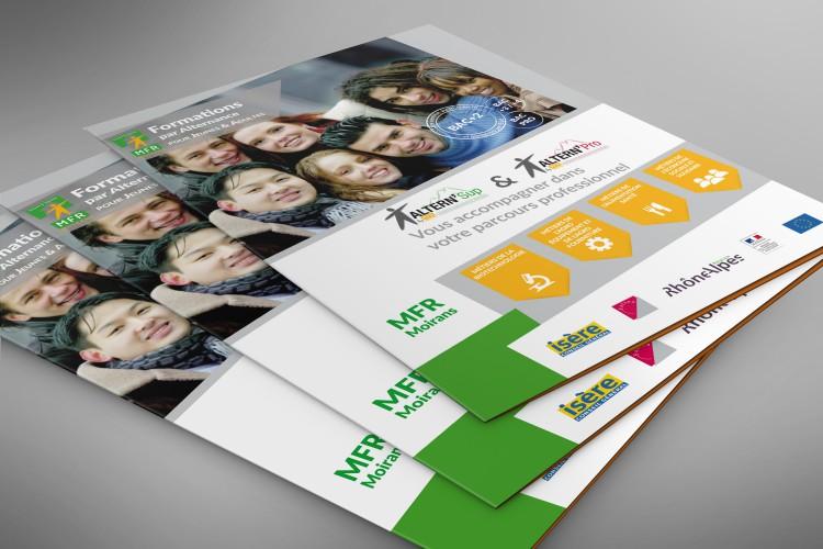 Création graphique pour MFR Moirans avec de nouveaux supports de communication