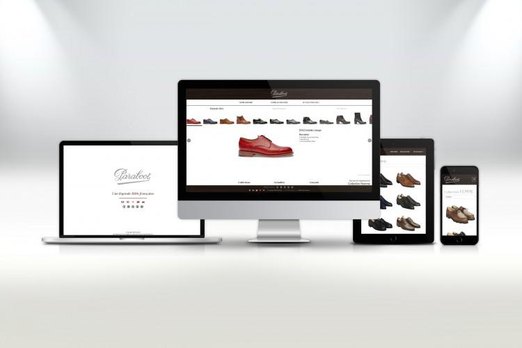 Nouveau graphisme et nouvelle collection en ligne chez Paraboot