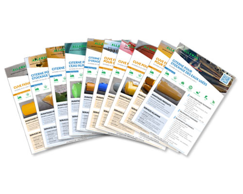 La société ALLAMAN nous confie l'édition de notices commerciales pour ses clients