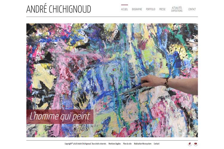 Création d'un site pour un Artiste peintre
