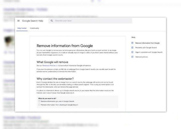 Google : comment retirer des informations personnelles du moteur de recherche ?